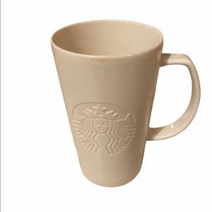 Rare Starbucks Ceramic 16 Oz Coffee Mug 2015 White